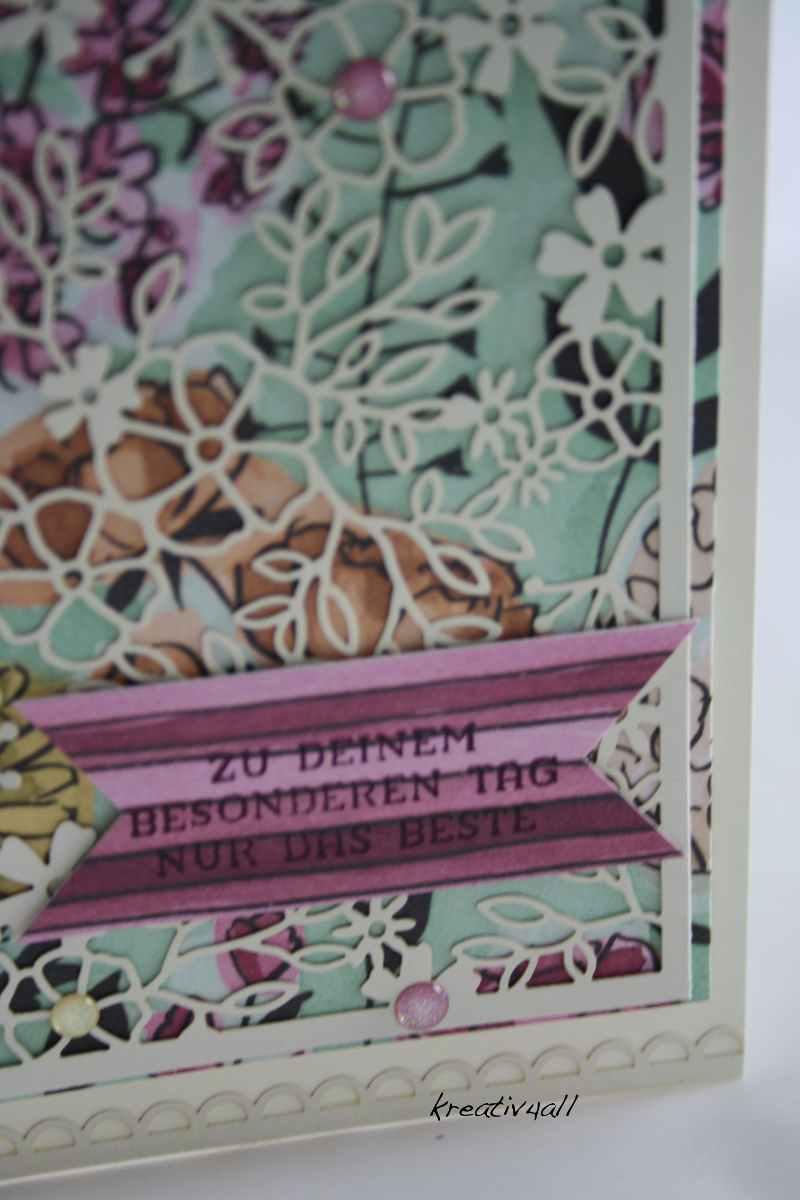 Elegante Geburtstagskarte mit Stampin`Up! Produkten gewerkelt